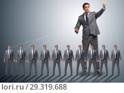 Купить «Boss employee manipulating his staff in business concept», фото № 29319688, снято 13 ноября 2018 г. (c) Elnur / Фотобанк Лори