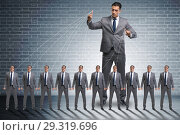 Купить «Boss employee manipulating his staff in business concept», фото № 29319696, снято 13 ноября 2018 г. (c) Elnur / Фотобанк Лори