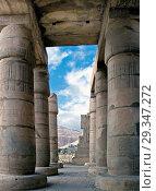 Купить «Ramesseum Luxor Egypt: Ramesseum : the funeral temple of pharaoh Ramses II the Great(1303-1213 b.C. XIX° dyn.The hypostyle hall», фото № 29347272, снято 19 февраля 2020 г. (c) age Fotostock / Фотобанк Лори