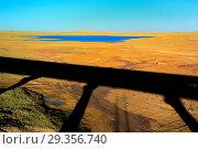 Купить «Landscape viewed from train of Trans-Tibetan Railway, Tibet, China», фото № 29356740, снято 16 июня 2019 г. (c) age Fotostock / Фотобанк Лори