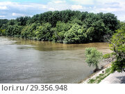 Confluence of the Danube and Morava rivers, Devin, Bratislava, Slovakia. Стоковое фото, фотограф Ivan Vdovin / age Fotostock / Фотобанк Лори
