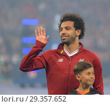 Купить «UEFA Champions League Final between Real Madrid and Liverpool, at the Olimpiyskiy National Sports Complex in Kiev, Ukraine. Featuring: Mohamed Salah Where...», фото № 29357652, снято 26 мая 2018 г. (c) age Fotostock / Фотобанк Лори