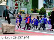Купить «North America, America, East Coast, USA, American, New York, Manhattan, Union Square, Kindergarden», фото № 29357944, снято 30 марта 2020 г. (c) age Fotostock / Фотобанк Лори