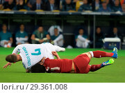 Купить «Fans and football action during the UEFA 2018 Champions League Final Featuring: Mohamed Salah of Liverpool, Sergio Ramos of Real Madrid Where: Kyiv, Ukraine...», фото № 29361008, снято 26 мая 2018 г. (c) age Fotostock / Фотобанк Лори
