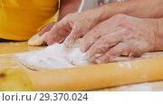Купить «Family making little pies. Hands in focus. Slow motion», видеоролик № 29370024, снято 6 июля 2020 г. (c) Константин Шишкин / Фотобанк Лори