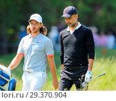 Купить «Sports stars and celebrities join professional golfers at the BMW PGA Championship pro-am at Wentworth Golf Club Featuring: Tommy Fleetwood, Pep Guardiola...», фото № 29370904, снято 23 мая 2018 г. (c) age Fotostock / Фотобанк Лори