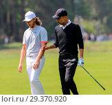 Купить «Sports stars and celebrities join professional golfers at the BMW PGA Championship pro-am at Wentworth Golf Club Featuring: Tommy Fleetwood, Pep Guardiola...», фото № 29370920, снято 23 мая 2018 г. (c) age Fotostock / Фотобанк Лори