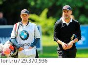 Купить «Sports stars and celebrities join professional golfers at the BMW PGA Championship pro-am at Wentworth Golf Club Featuring: Pep Guardiola Where: Wentworth...», фото № 29370936, снято 23 мая 2018 г. (c) age Fotostock / Фотобанк Лори