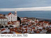 Купить «Lisbon from above. Portugal», фото № 29384780, снято 15 февраля 2018 г. (c) Liseykina / Фотобанк Лори