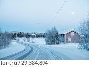 Купить «Frozen winter road in Finland», фото № 29384804, снято 9 января 2017 г. (c) Liseykina / Фотобанк Лори
