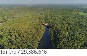 Купить «River and Green Forest nature near summer Cesis city in Latvia, Gauya, 4K drone flight landscape from above», видеоролик № 29386616, снято 5 ноября 2018 г. (c) Aleksejs Bergmanis / Фотобанк Лори