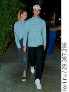 Купить «Patrick Schwarzenegger and his girlfriend Abby Champion at Craig's restaurant Featuring: Abby Champion, Patrick Schwarzenegger Where: Beverly Hills, California...», фото № 29387296, снято 15 мая 2018 г. (c) age Fotostock / Фотобанк Лори