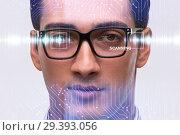 Купить «Concept of sensor implanted into human eye», фото № 29393056, снято 14 ноября 2018 г. (c) Elnur / Фотобанк Лори