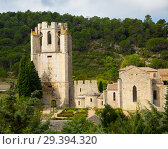 Купить «Historical view of Castle of Abbey Sainte-Marie d'Orbieu in Lagrasse», фото № 29394320, снято 6 октября 2018 г. (c) Яков Филимонов / Фотобанк Лори