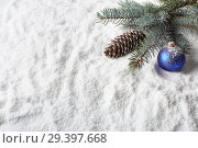 Купить «New Year and Christmas background», фото № 29397668, снято 4 ноября 2018 г. (c) Мельников Дмитрий / Фотобанк Лори
