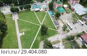 Купить «Aerial view of Spaso-Preobrazhensky cathedral in Pereslavl-Zalessky, Russia», видеоролик № 29404080, снято 2 июля 2018 г. (c) Яков Филимонов / Фотобанк Лори