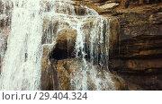 Купить «El Torrent de la Cabana small mountain stream with crystal clear water», видеоролик № 29404324, снято 23 марта 2018 г. (c) Яков Филимонов / Фотобанк Лори