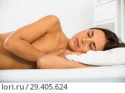 Купить «Woman sleeping in bed», фото № 29405624, снято 21 марта 2019 г. (c) Яков Филимонов / Фотобанк Лори