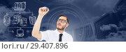 Купить «Servers network doodle being drawn by businessman's hand», фото № 29407896, снято 19 июня 2019 г. (c) Wavebreak Media / Фотобанк Лори