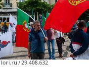 Купить «Lisbon, Portugal, Protest against mass immigration», фото № 29408632, снято 10 июня 2018 г. (c) Caro Photoagency / Фотобанк Лори