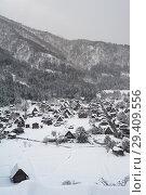 Купить «Shirakawa-go, Japan, view of the snow-covered winter landscape », фото № 29409556, снято 28 декабря 2017 г. (c) Caro Photoagency / Фотобанк Лори