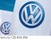 Купить «Poland, VW logos at Volkswagen Poznan», фото № 29410356, снято 24 мая 2018 г. (c) Caro Photoagency / Фотобанк Лори