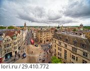 Купить «View from the top of Carfax Tower to the center of the Oxford city. Oxford University. England», фото № 29410772, снято 15 мая 2009 г. (c) Serg Zastavkin / Фотобанк Лори