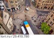 Купить «View from the top of Carfax Tower to the center of the Oxford city. Oxford University. England», фото № 29410780, снято 15 мая 2009 г. (c) Serg Zastavkin / Фотобанк Лори