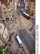 Купить «View from the top of Carfax Tower to the center of the Oxford city. Oxford University. England», фото № 29410788, снято 15 мая 2009 г. (c) Serg Zastavkin / Фотобанк Лори