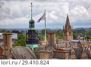 Купить «The towers of the Oxford Town Hall and the Christ Church Cathedral. Oxford University. England», фото № 29410824, снято 15 мая 2009 г. (c) Serg Zastavkin / Фотобанк Лори