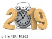 Купить «2019 new year. Isolated 3D illustration», иллюстрация № 29410932 (c) Ильин Сергей / Фотобанк Лори