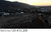 Купить «Gori city in Georgia Stalin's homeland 4K drone flight», видеоролик № 29413288, снято 6 ноября 2018 г. (c) Aleksejs Bergmanis / Фотобанк Лори