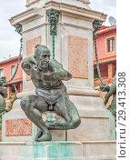 Купить «Памятник «Четыре мавра». Фрагмент. Ливорно. Тоскана. Италия», фото № 29413308, снято 13 сентября 2018 г. (c) Сергей Афанасьев / Фотобанк Лори