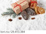 Купить «New Year and Christmas background», фото № 29413384, снято 5 ноября 2018 г. (c) Мельников Дмитрий / Фотобанк Лори