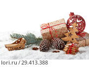 Купить «New Year and Christmas background», фото № 29413388, снято 5 ноября 2018 г. (c) Мельников Дмитрий / Фотобанк Лори
