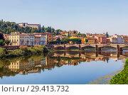 Купить «Ponte San Niccolo (мост Святого Николая) через Арно. Флоренция. Италия», фото № 29413732, снято 14 сентября 2018 г. (c) Сергей Афанасьев / Фотобанк Лори