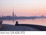 Dawn in St. Petersburg in early spring (2018 год). Стоковое фото, фотограф Юлия Бабкина / Фотобанк Лори