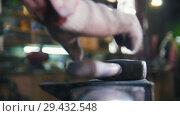 Купить «Blacksmith working with hammer. Close up red-hot detail», видеоролик № 29432548, снято 21 ноября 2018 г. (c) Константин Шишкин / Фотобанк Лори