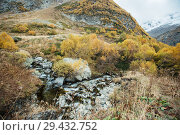 Купить «Churchkhur river at the autumn», фото № 29432752, снято 14 октября 2017 г. (c) Донцов Евгений Викторович / Фотобанк Лори