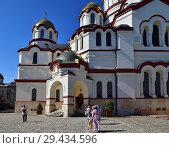 Купить «New Athos, Abkhazia - June 3. 2018. yard in Novy Afonsky for men Monastery», фото № 29434596, снято 3 июня 2018 г. (c) Володина Ольга / Фотобанк Лори