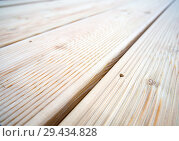 Купить «Деревянная террасная доска», фото № 29434828, снято 20 июня 2018 г. (c) Вячеслав Палес / Фотобанк Лори