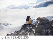 Купить «Old wooden toilets WC for climbers about break», фото № 29435236, снято 8 июля 2015 г. (c) katalinks / Фотобанк Лори