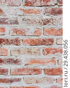 Купить «Background based on the brickwork of the   stained rough brick», фото № 29438056, снято 29 января 2018 г. (c) Николай Коржов / Фотобанк Лори