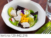 Купить «Whitefish ceviche with mango and lime», фото № 29442216, снято 22 августа 2019 г. (c) Яков Филимонов / Фотобанк Лори