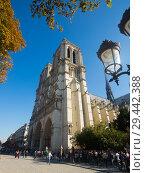 Купить «Notre-Dame Cathedral, Paris», фото № 29442388, снято 10 октября 2018 г. (c) Яков Филимонов / Фотобанк Лори