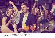 Купить «Females and males celebrating corporate», фото № 29450312, снято 20 апреля 2017 г. (c) Яков Филимонов / Фотобанк Лори
