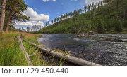 Купить «Timelapse of Yellowstone River,Yellowstone National Park, United States», видеоролик № 29450440, снято 11 ноября 2018 г. (c) Виталий Поздеев / Фотобанк Лори