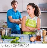 Купить «person criticizing young spouse», фото № 29456164, снято 26 марта 2019 г. (c) Яков Филимонов / Фотобанк Лори