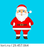 Купить «Santa Claus on blue background holiday illustration», иллюстрация № 29457064 (c) Мастепанов Павел / Фотобанк Лори
