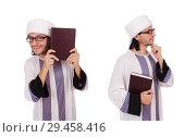Купить «Arab man isolated on white», фото № 29458416, снято 28 ноября 2013 г. (c) Elnur / Фотобанк Лори